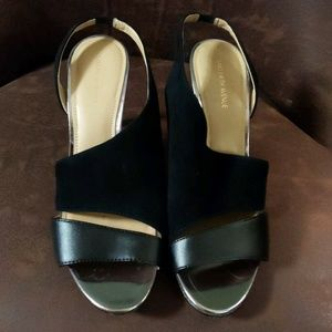 New Saks Fifth Avenue Black Shoes Sandals Heels 9